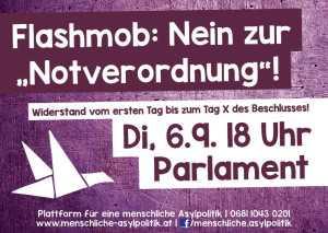 20160906_Flashmob gegen Notverordnung_Flyer_1